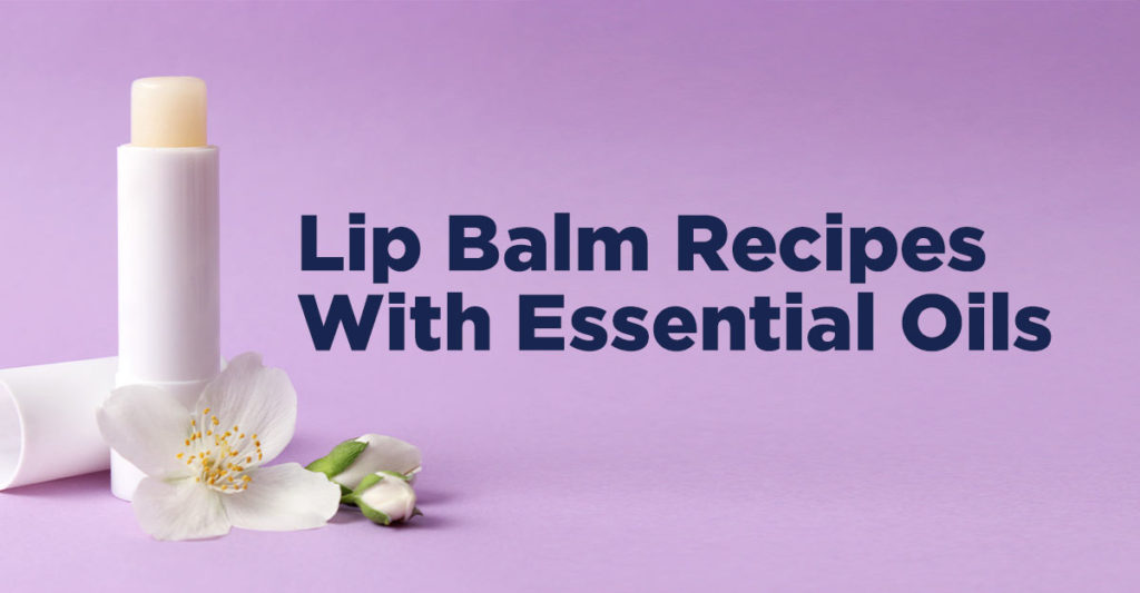 essential oil lip balm